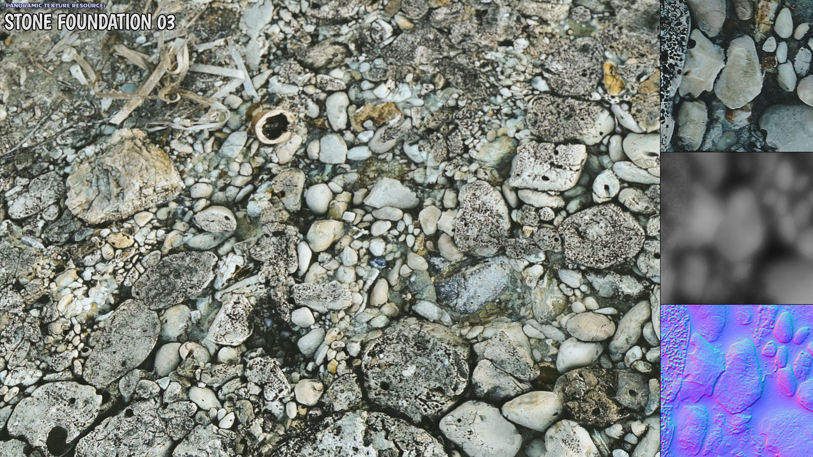 Panoramic Texture Resource: Stone Foundation 03 - Extended License