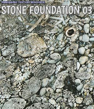 Panoramic Texture Resource: Stone Foundation 03 - Extended License 2D Graphics Extended Licenses ShaaraMuse3D