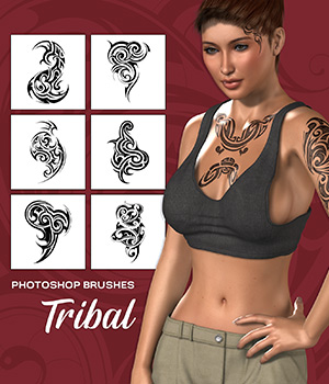 Tribal Brushes 2D Graphics Merchant Resources Atenais
