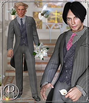 GROOM for L'homme Classic Suit 3D Figure Assets La Femme - LHomme Poser Figures RPublishing