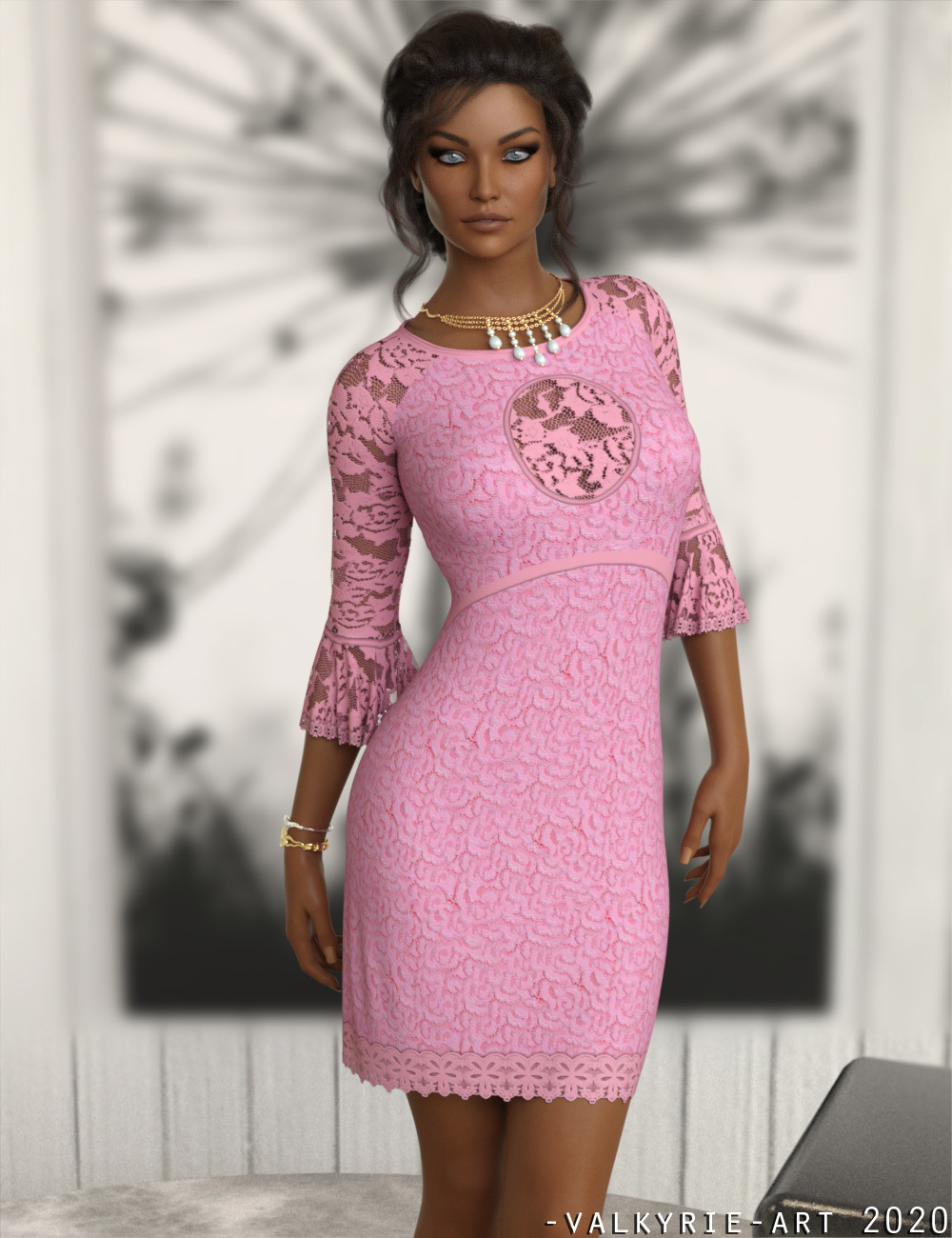 InStyle - JMR dForce Laura Short Dress for G8F by -Valkyrie-