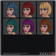 SciFi Hair for G3F image 5