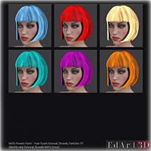 SciFi Hair for G3F image 7