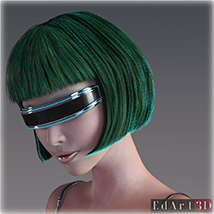 SciFi Hair for G3F image 12