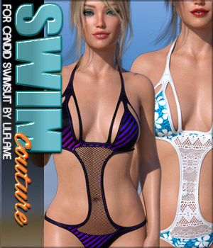 SWIM Couture for Candid Swimsuit G8F 3D Figure Assets Sveva