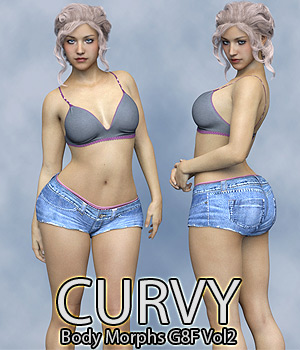 Curvy Body Morphs for G8F Vol 2 3D Figure Assets Anagord