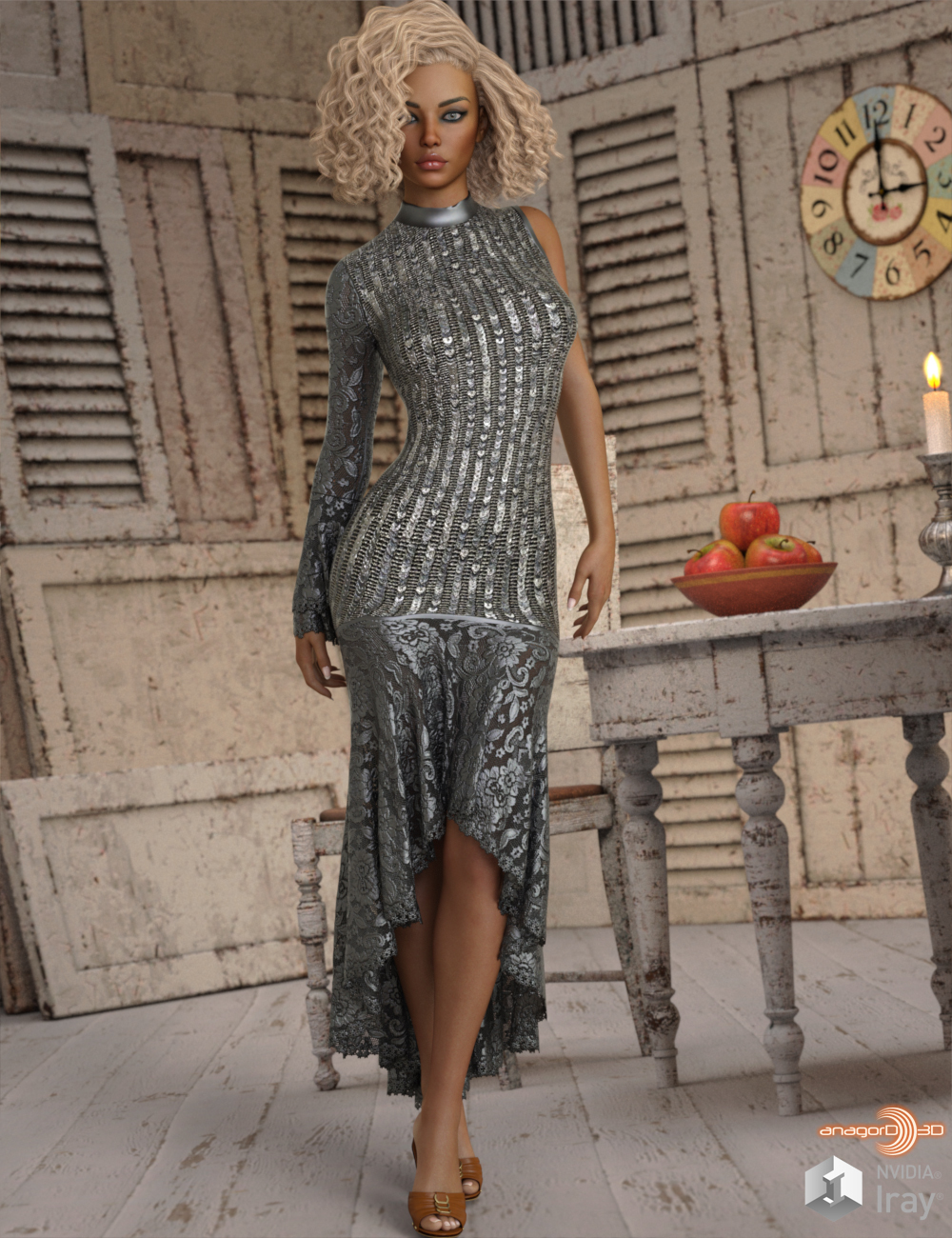 VERSUS - Sardonic dForce dress for G8F by Anagord