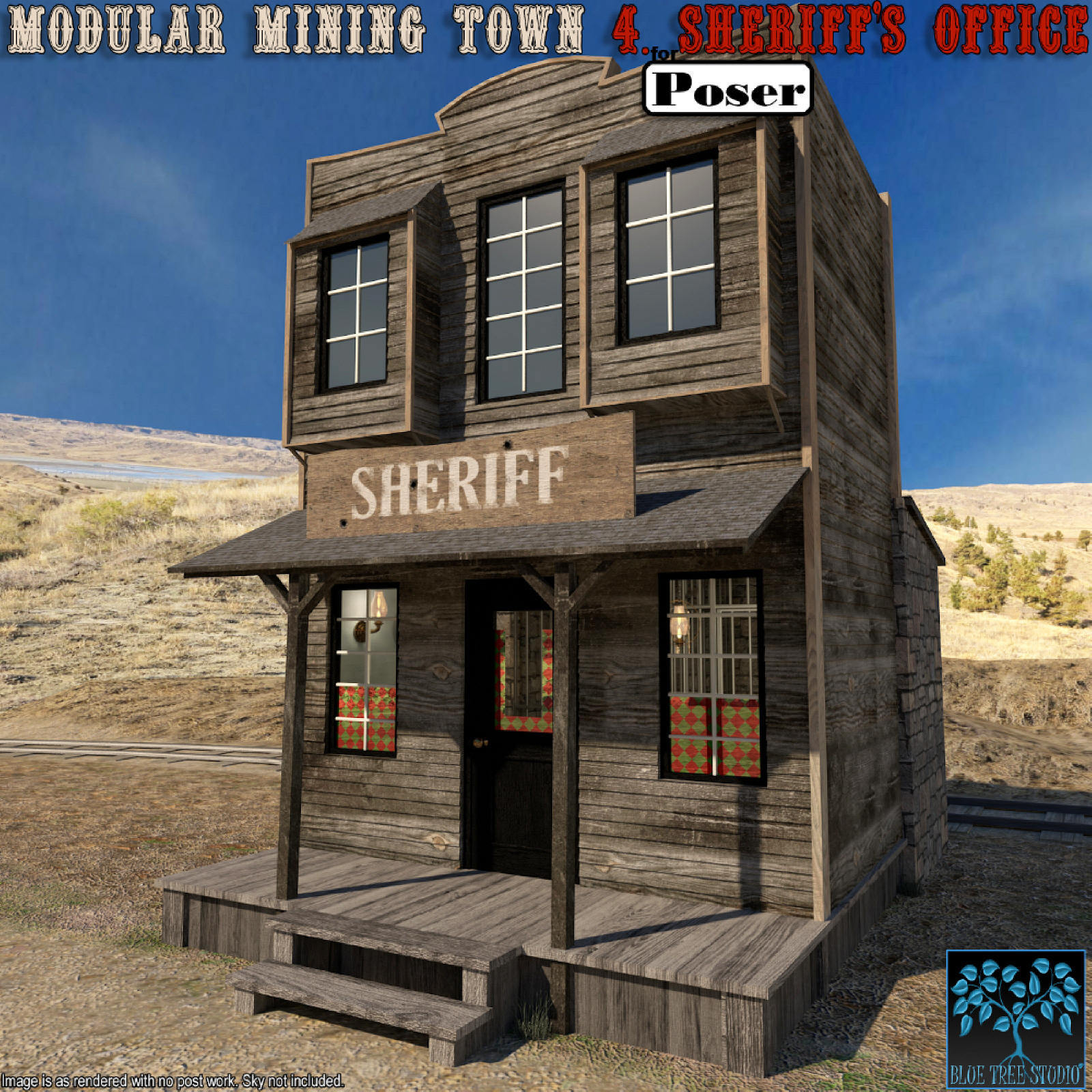 Modular Mining Town: 4. Sheriff's Office for Poser by BlueTreeStudio
