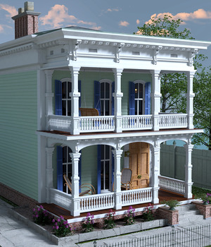 MS20 New Orleans Garden District House for DAZ Studio 4.9 Iray