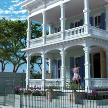 MS20 New Orleans Garden District House for DAZ Studio 4.9 Iray image 2