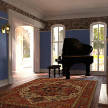 MS20 New Orleans Garden District House for DAZ Studio 4.9 Iray image 4