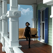MS20 New Orleans Garden District House for DAZ Studio 4.9 Iray image 7