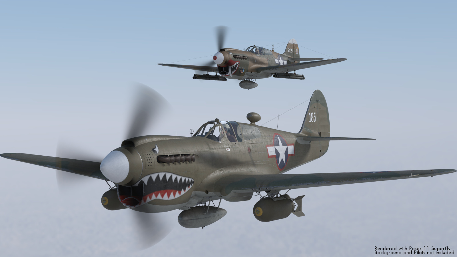'Snub-nosed' P-40 Warhawk by andreasgr