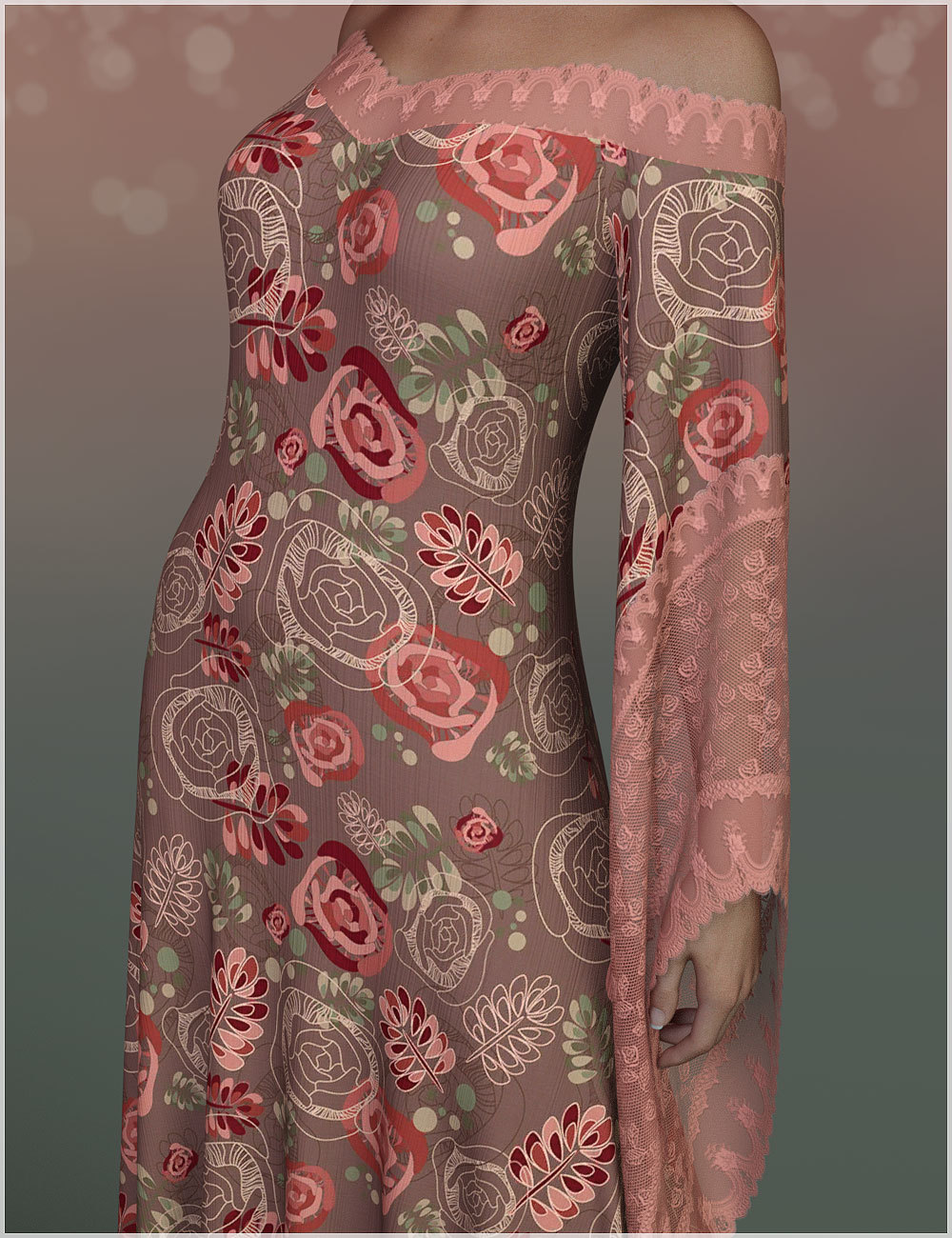 Feminine for dForce - Connie Long Gown by Belladzines