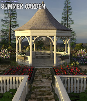 Modular 3D Kits: Summer Garden Construction Set 3D Game Models : OBJ : FBX 3D Models ShaaraMuse3D