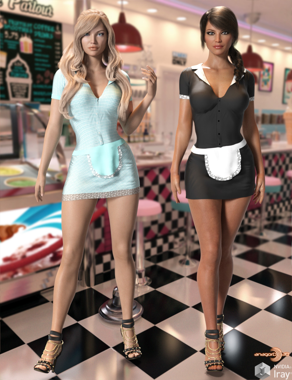 Milkshake Girls - Head and Body Morphs for G8F by Anagord