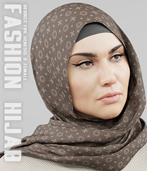 dForce Fashion Hijab - G8F 3D Figure Assets Vicey3D
