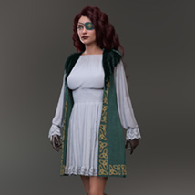 Urban Pirate dforce outfit for Genesis 8 Female image 2