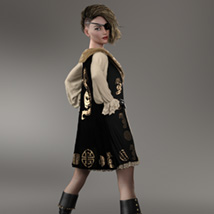 Urban Pirate dforce outfit for Genesis 8 Female image 5