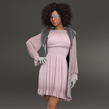 Urban Pirate dforce outfit for Genesis 8 Female image 7