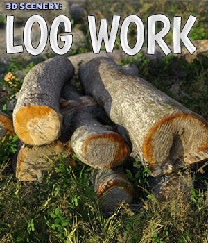 3D Scenery: Log Work 3D Models ShaaraMuse3D