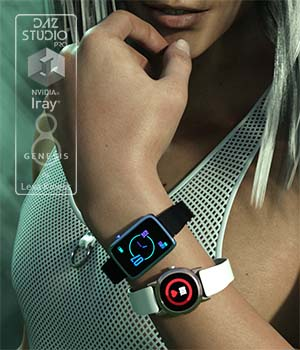 Smart Watches for Genesis 8 Female and Male 3D Figure Assets LexaKiness