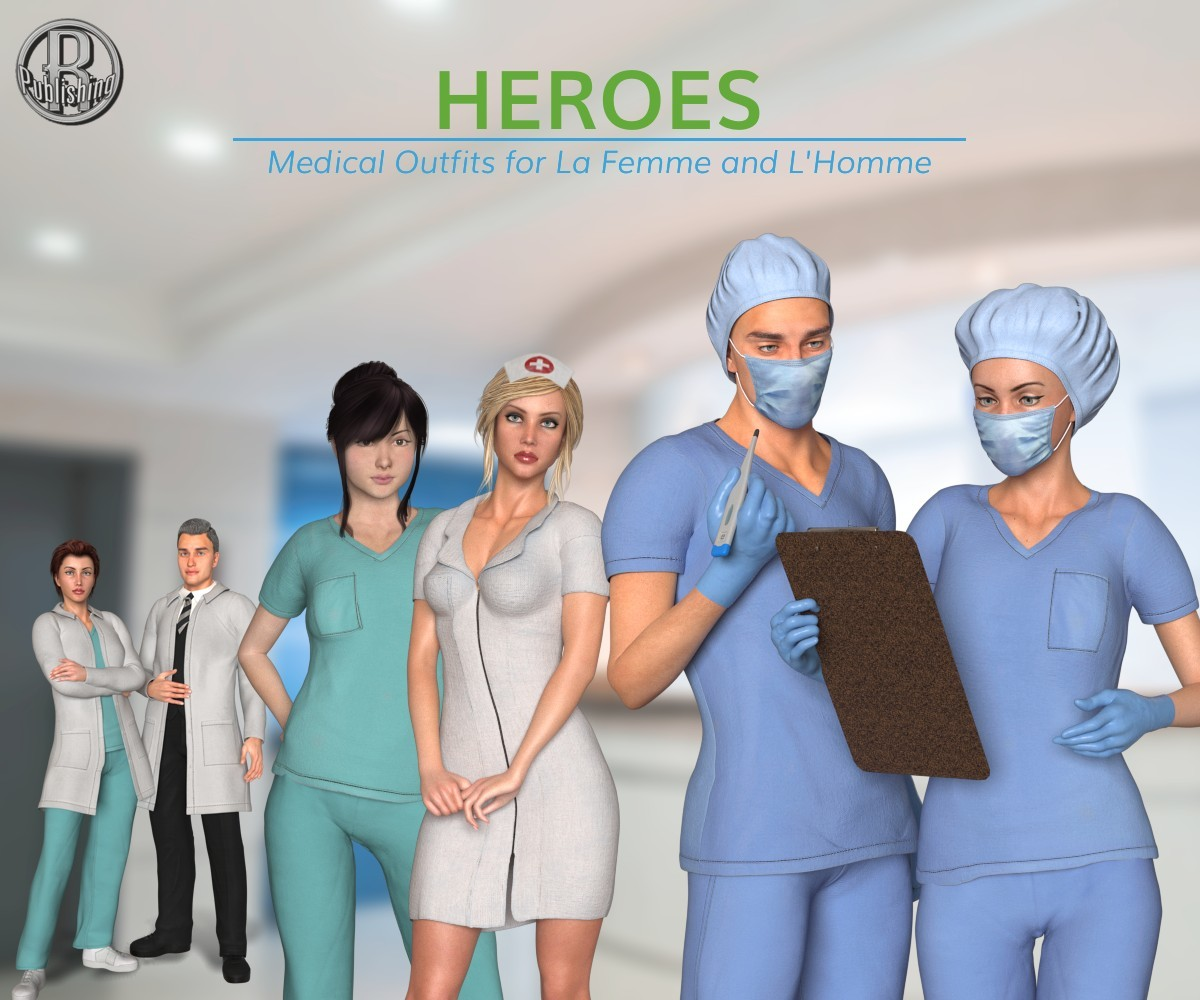 Heroes -  Medical Outfits  for La Femme and L'Homme by RPublishing