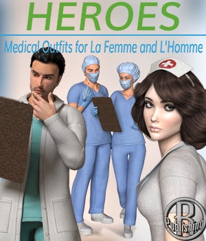 Heroes -  Medical Outfits  for La Femme and L'Homme 3D Figure Assets La Femme - LHomme Poser Figures RPublishing
