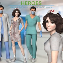 Heroes -  Medical Outfits  for La Femme and L'Homme image 1