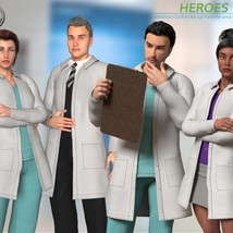 Heroes -  Medical Outfits  for La Femme and L'Homme image 2