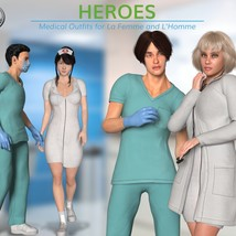 Heroes -  Medical Outfits  for La Femme and L'Homme image 3
