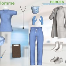 Heroes -  Medical Outfits  for La Femme and L'Homme image 11