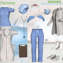 Heroes -  Medical Outfits  for La Femme and L'Homme image 12