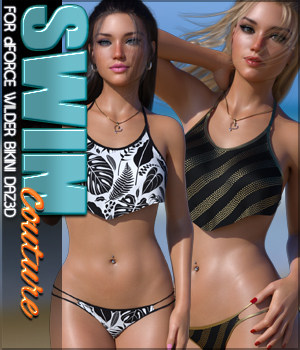 SWIM Couture for dForce Wilder Bikini G8F 3D Figure Assets Sveva