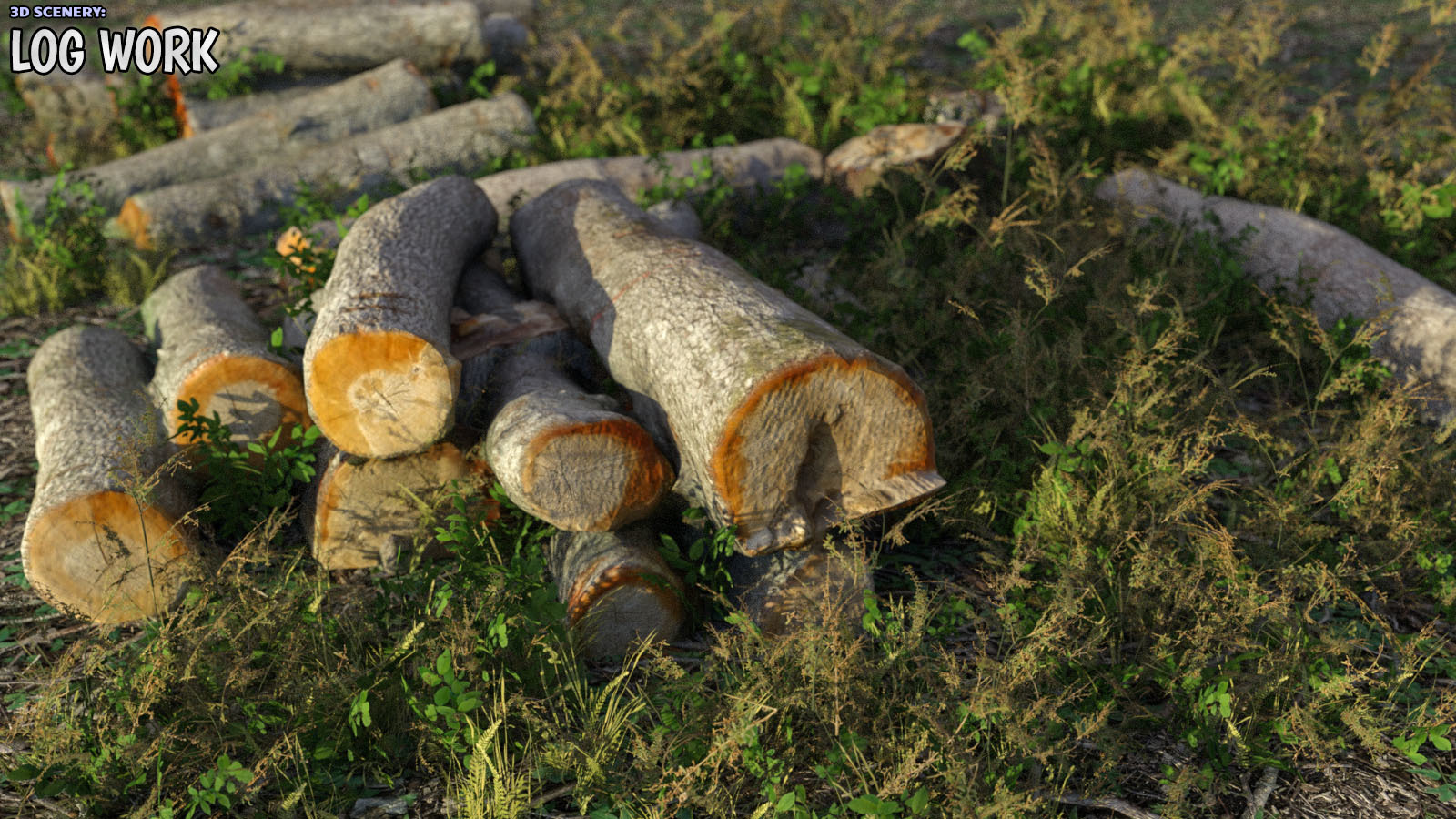 3D Scenery: Log Work - Extended License by ShaaraMuse3D