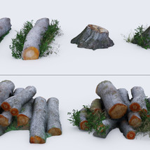 3D Scenery: Log Work - Extended License image 3