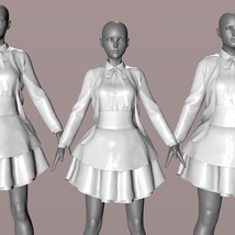 Dforce BW Glothic Outfit for Genesis 8 Female image 6