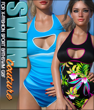 SWIM Couture for X-Fashion Sport Bathsuit 3D Figure Assets Sveva