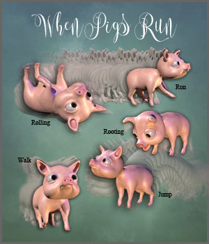 When Pigs Run 3D Figure Assets RPublishing