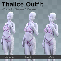 Thalice Outfit for Genesis 8 Female image 8