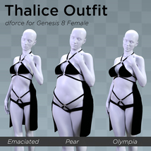 Thalice Outfit for Genesis 8 Female image 9