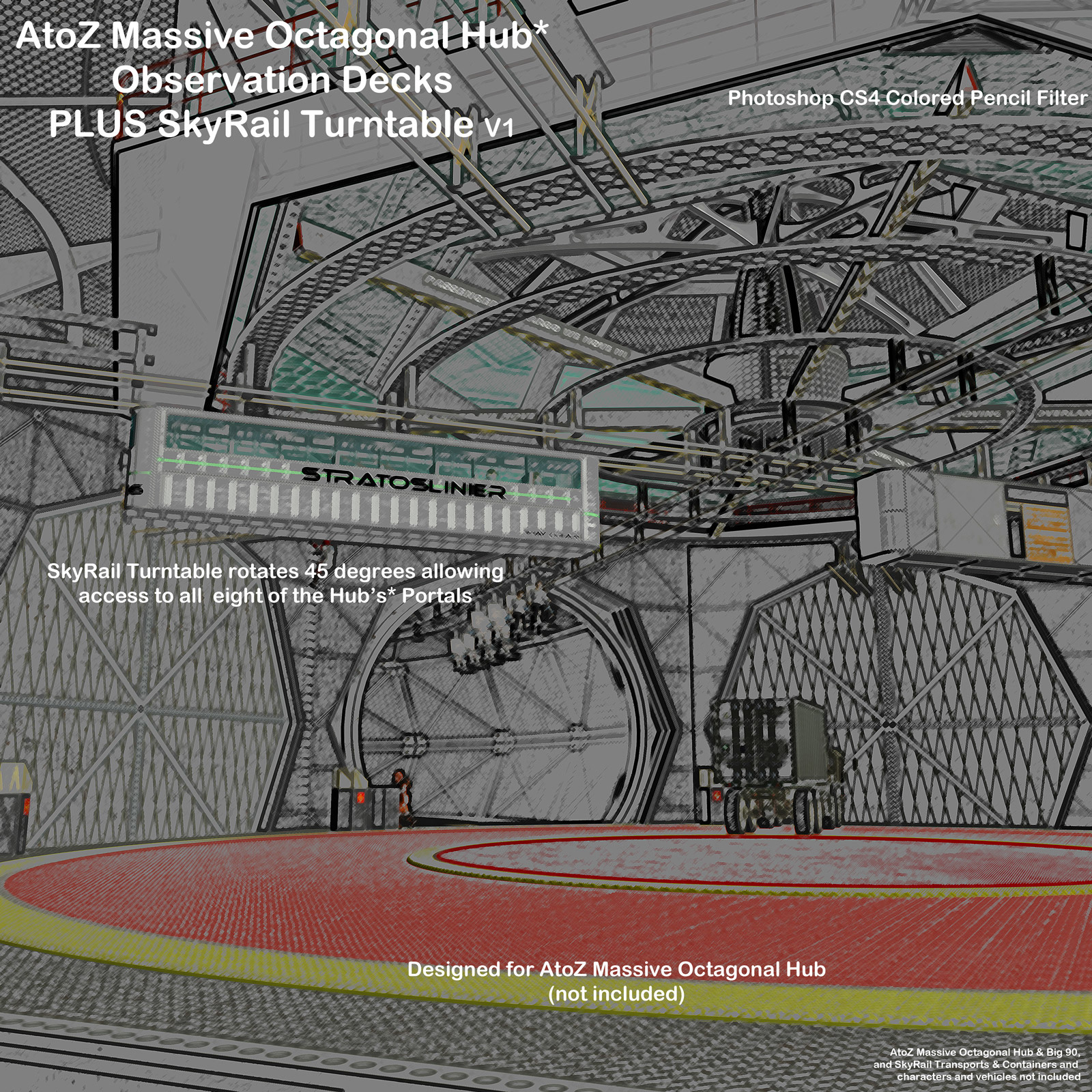 AtoZ Massive Oct Hub SkyRail and Observation Decks I v1 by AtoZ