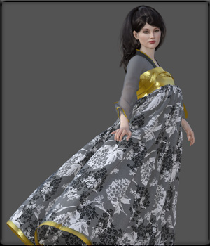 Faxhion - Hanfu Style Dress 3D Figure Assets vyktohria