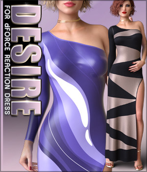 Desire for dForce Reaction Dress 3D Figure Assets Sveva