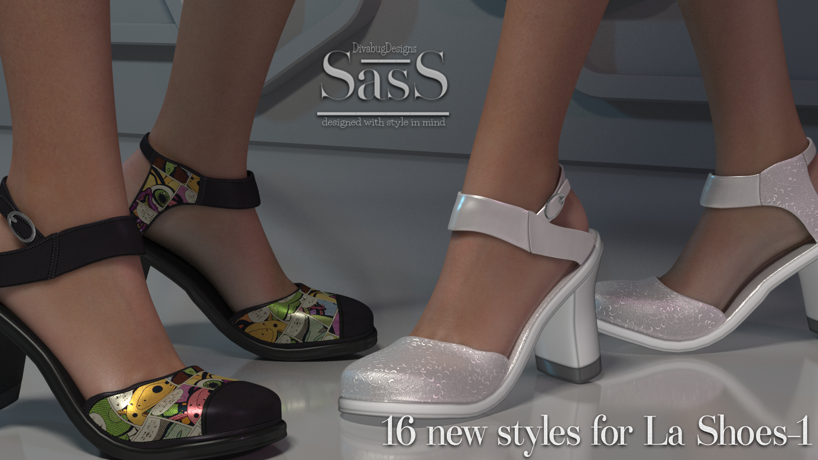 SasS La Shoes-1 by DivabugDesigns