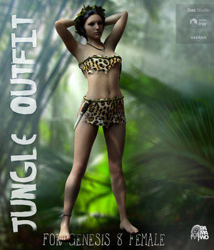 Jungle Outfit for G8F 3D Figure Assets pamawo