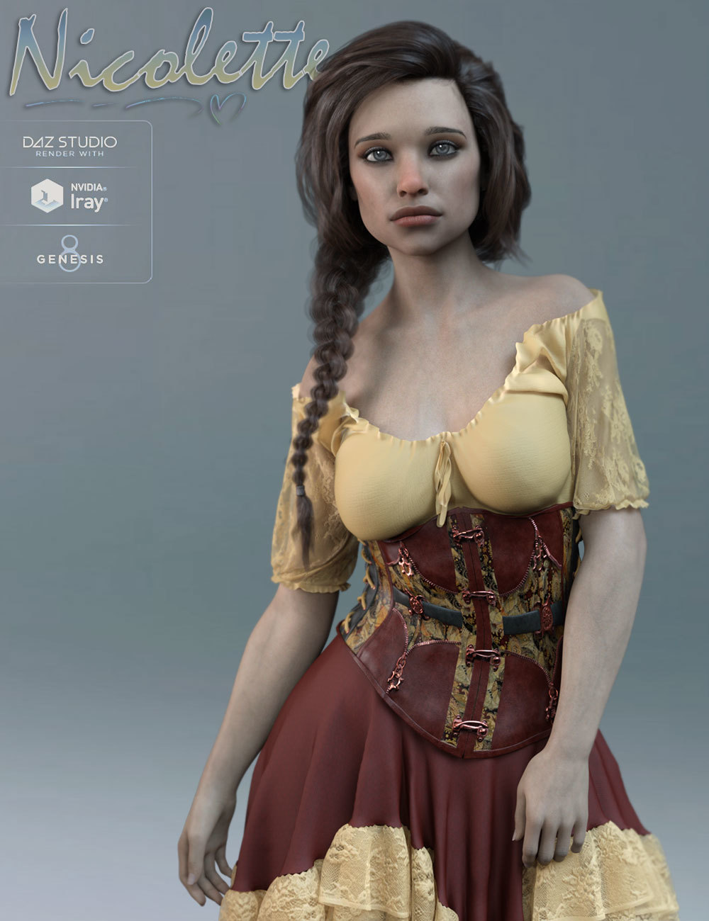 TDT-Nicolette for Genesis 8 Female