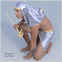 The Egyptian King  - Dynamic and dForce for L'Homme, Genesis 8 and Genesis 3 image 1