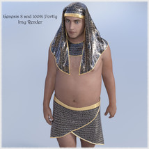 The Egyptian King  - Dynamic and dForce for L'Homme, Genesis 8 and Genesis 3 image 3