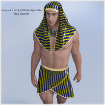 The Egyptian King  - Dynamic and dForce for L'Homme, Genesis 8 and Genesis 3 image 5